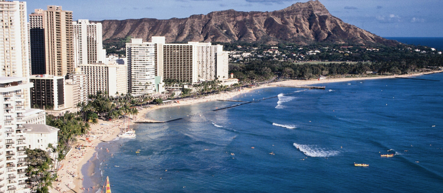 Waikiki Beach with Hotels